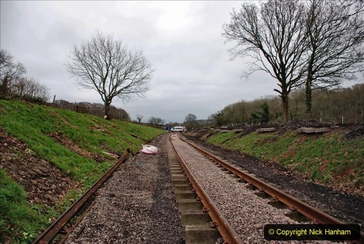 2020-01-24 Track renewall Cowpat Crossing to just past Dickers Crossing. (189) Ballast work. 189