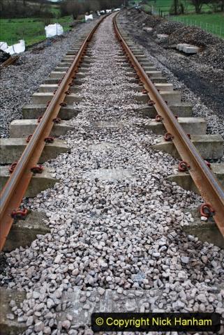 2020-01-24 Track renewall Cowpat Crossing to just past Dickers Crossing. (19) Ballast work. 019