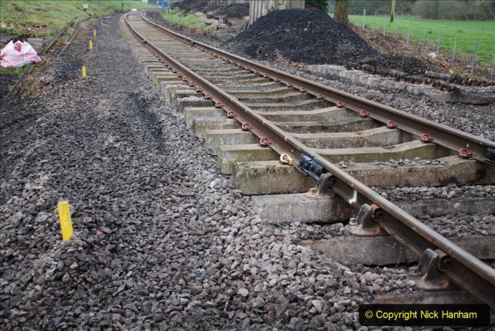 2020-01-24 Track renewall Cowpat Crossing to just past Dickers Crossing. (2) Ballast work. 002
