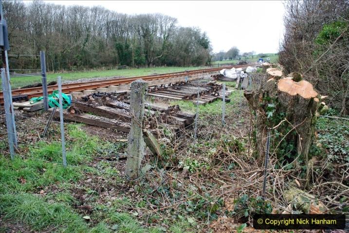 2020-01-24 Track renewall Cowpat Crossing to just past Dickers Crossing. (24) Ballast work. 024
