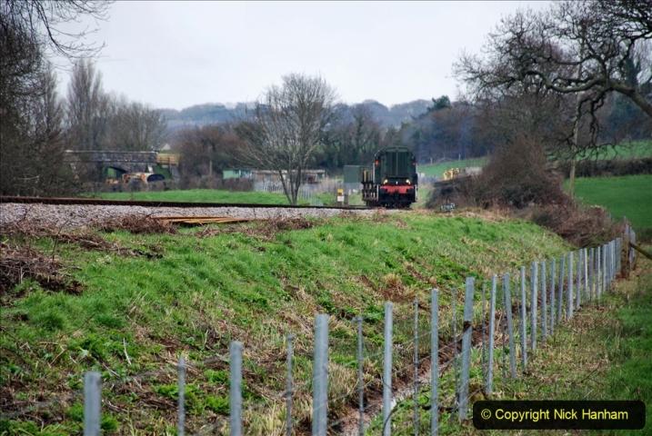 2020-01-24 Track renewall Cowpat Crossing to just past Dickers Crossing. (28) Ballast work. 028