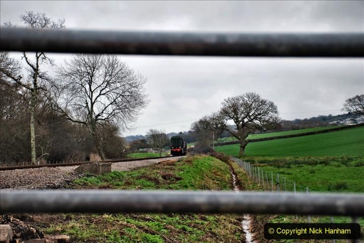 2020-01-24 Track renewall Cowpat Crossing to just past Dickers Crossing. (29) Ballast work. 029