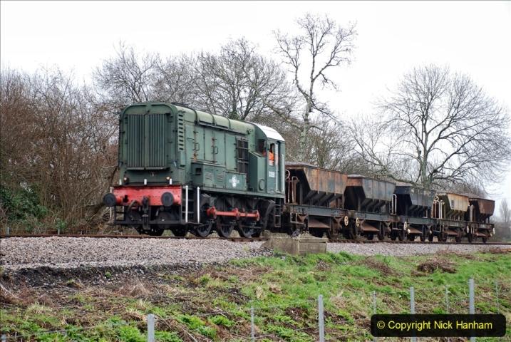 2020-01-24 Track renewall Cowpat Crossing to just past Dickers Crossing. (30) Ballast work. 030