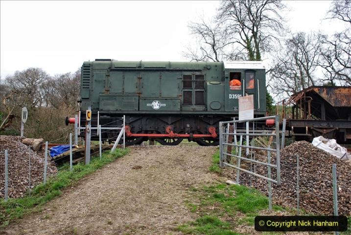 2020-01-24 Track renewall Cowpat Crossing to just past Dickers Crossing. (31) Ballast work. 031