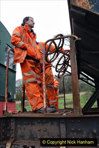 2020-01-24 Track renewall Cowpat Crossing to just past Dickers Crossing. (35) Ballast work. 035