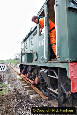 2020-01-24 Track renewall Cowpat Crossing to just past Dickers Crossing. (36) Ballast work. 036