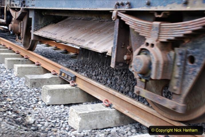 2020-01-24 Track renewall Cowpat Crossing to just past Dickers Crossing. (37) Ballast work. 037