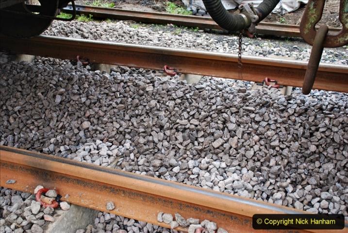 2020-01-24 Track renewall Cowpat Crossing to just past Dickers Crossing. (39) Ballast work. 039