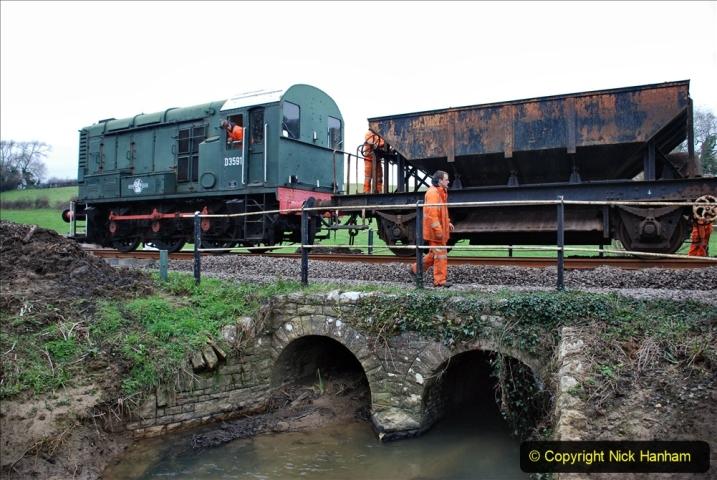 2020-01-24 Track renewall Cowpat Crossing to just past Dickers Crossing. (40) Ballast work. 040