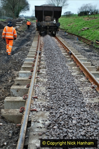 2020-01-24 Track renewall Cowpat Crossing to just past Dickers Crossing. (43) Ballast work. 043
