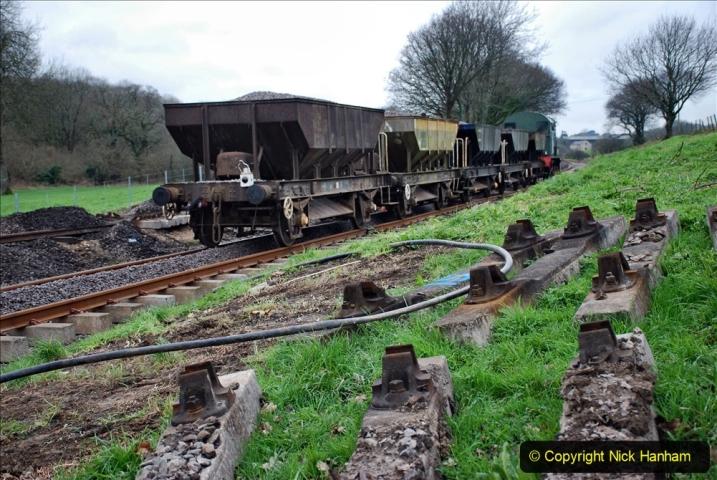 2020-01-24 Track renewall Cowpat Crossing to just past Dickers Crossing. (44) Ballast work. 044