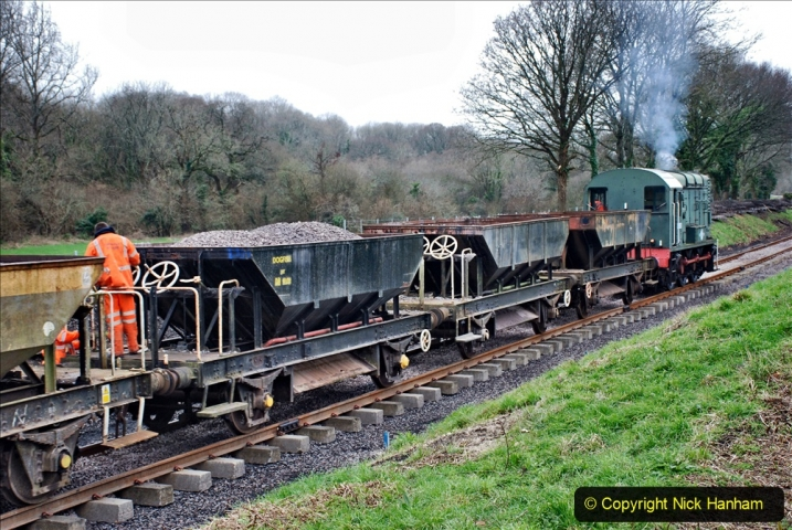 2020-01-24 Track renewall Cowpat Crossing to just past Dickers Crossing. (45) Ballast work. 045
