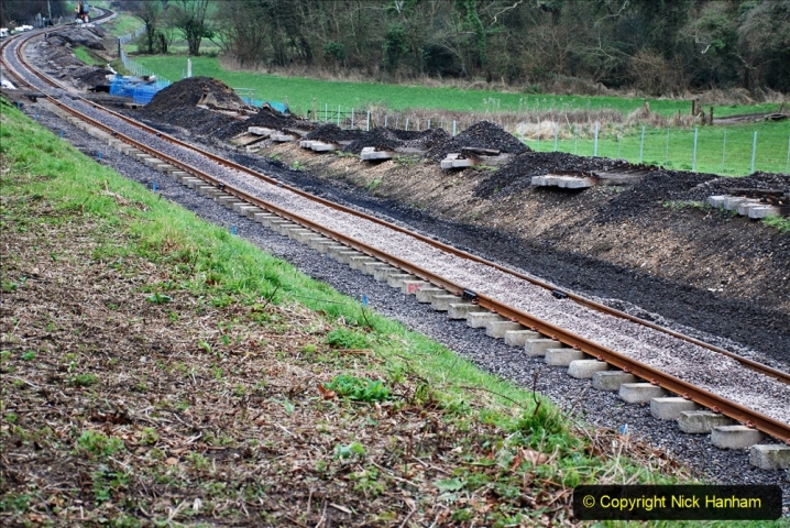 2020-01-24 Track renewall Cowpat Crossing to just past Dickers Crossing. (46) Ballast work. 046