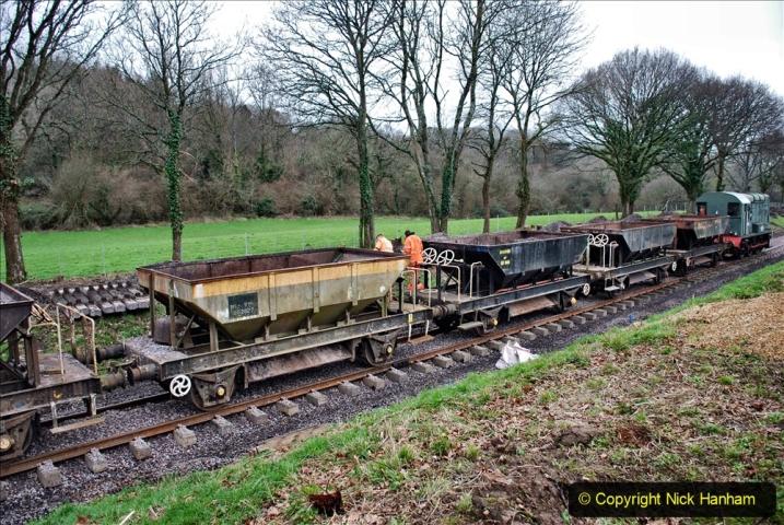 2020-01-24 Track renewall Cowpat Crossing to just past Dickers Crossing. (48) Ballast work. 048