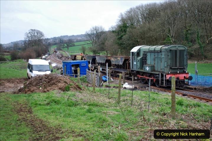 2020-01-24 Track renewall Cowpat Crossing to just past Dickers Crossing. (53) Ballast work. 053