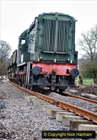 2020-01-24 Track renewall Cowpat Crossing to just past Dickers Crossing. (55) Ballast work. 055