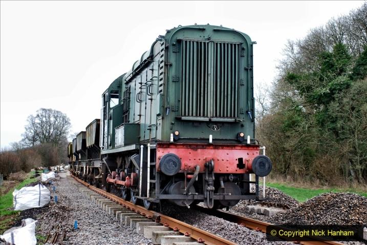 2020-01-24 Track renewall Cowpat Crossing to just past Dickers Crossing. (56) Ballast work. 056