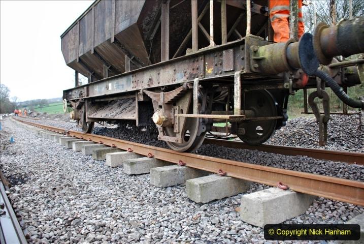 2020-01-24 Track renewall Cowpat Crossing to just past Dickers Crossing. (58) Ballast work. 058