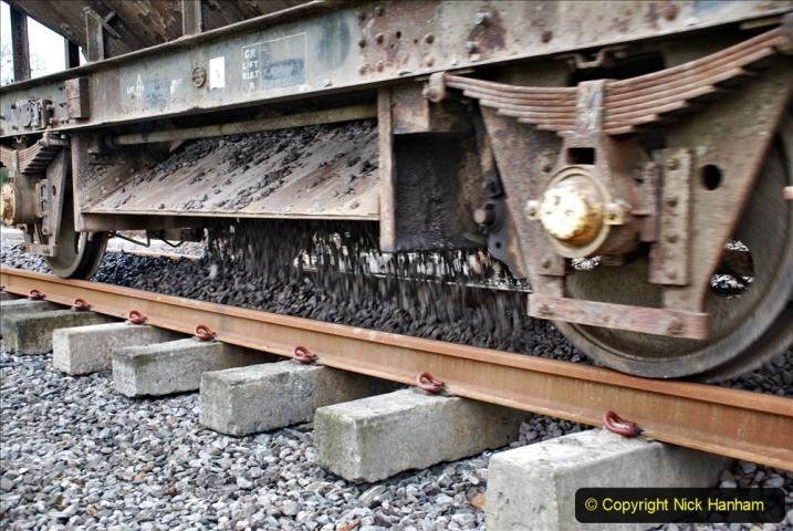 2020-01-24 Track renewall Cowpat Crossing to just past Dickers Crossing. (59) Ballast work. 059