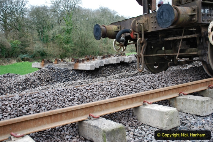 2020-01-24 Track renewall Cowpat Crossing to just past Dickers Crossing. (62) Ballast work. 062