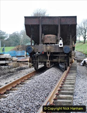 2020-01-24 Track renewall Cowpat Crossing to just past Dickers Crossing. (63) Ballast work. 063