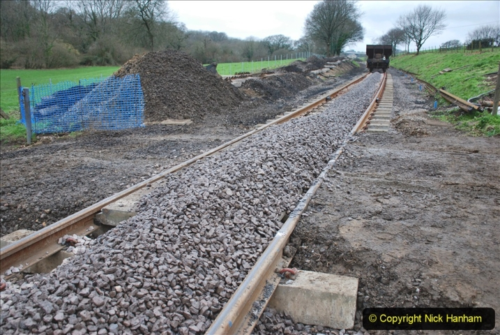 2020-01-24 Track renewall Cowpat Crossing to just past Dickers Crossing. (64) Ballast work. 064