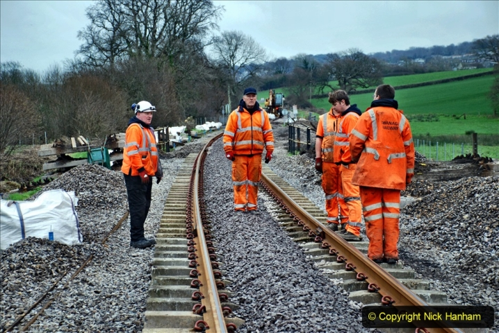 2020-01-24 Track renewall Cowpat Crossing to just past Dickers Crossing. (67) Ballast work. 067