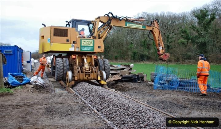 2020-01-24 Track renewall Cowpat Crossing to just past Dickers Crossing. (68) Ballast work. 068