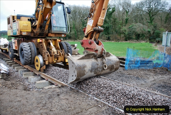 2020-01-24 Track renewall Cowpat Crossing to just past Dickers Crossing. (71) Ballast work. 071