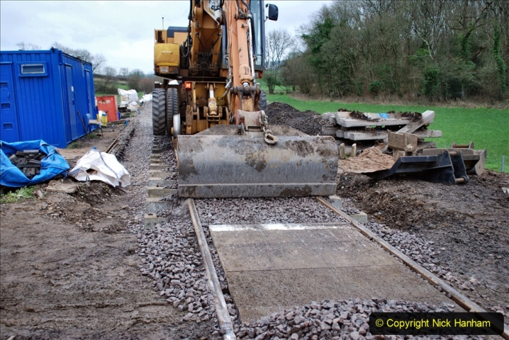 2020-01-24 Track renewall Cowpat Crossing to just past Dickers Crossing. (73) Ballast work. 073