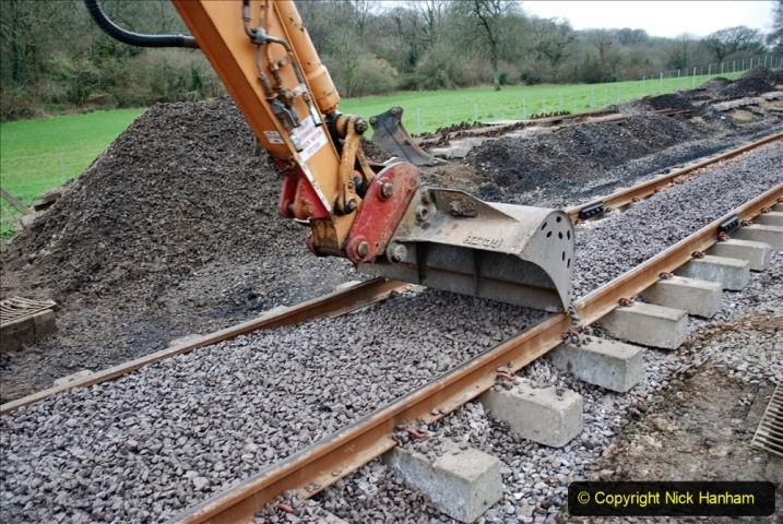 2020-01-24 Track renewall Cowpat Crossing to just past Dickers Crossing. (75) Ballast work. 075
