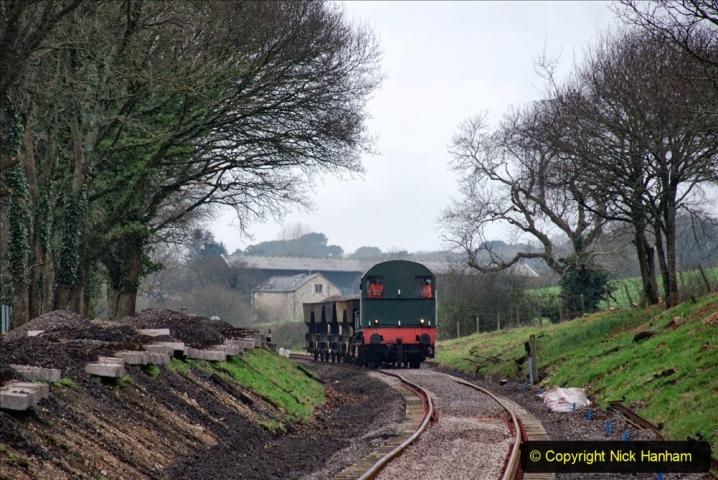 2020-01-24 Track renewall Cowpat Crossing to just past Dickers Crossing. (8) Ballast work. 008
