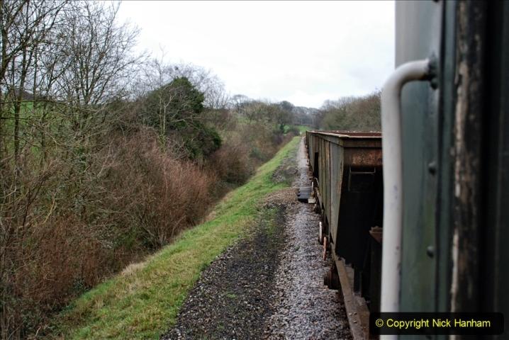 2020-01-24 Track renewall Cowpat Crossing to just past Dickers Crossing. (80) Ballast work. 080