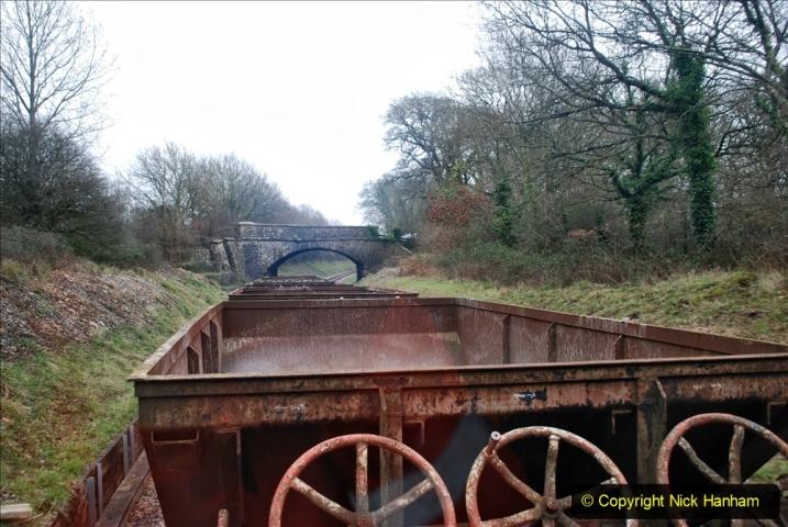 2020-01-24 Track renewall Cowpat Crossing to just past Dickers Crossing. (82) Ballast work. 082