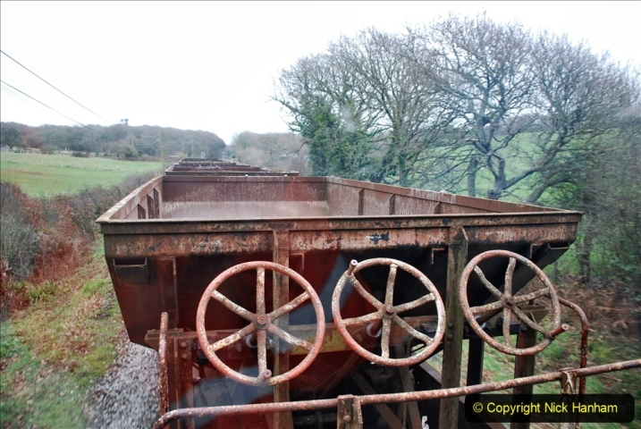2020-01-24 Track renewall Cowpat Crossing to just past Dickers Crossing. (84) Ballast work. 084