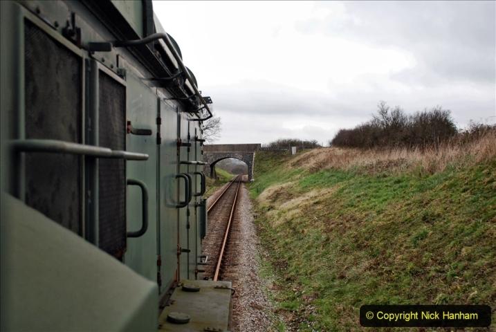 2020-01-24 Track renewall Cowpat Crossing to just past Dickers Crossing. (90) Ballast work. 090