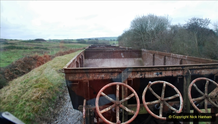 2020-01-24 Track renewall Cowpat Crossing to just past Dickers Crossing. (93) Ballast work. 093