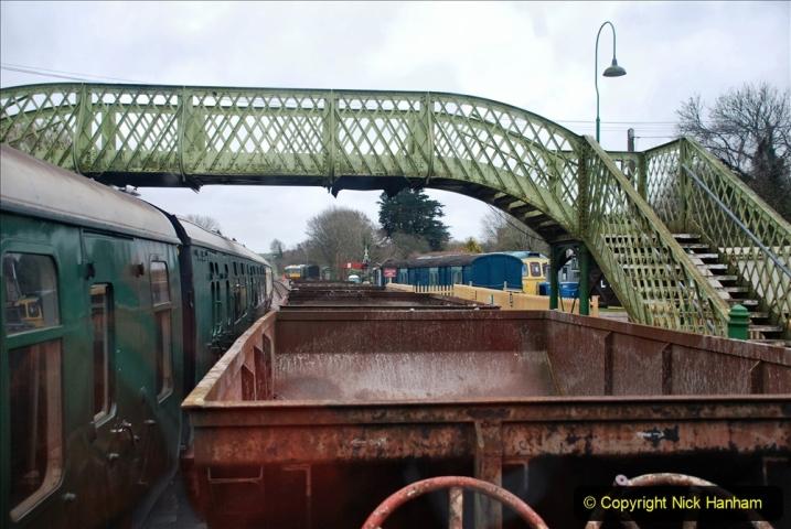 2020-01-24 Track renewall Cowpat Crossing to just past Dickers Crossing. (98) Ballast work. 098