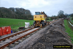 2020-01-24 Track renewall Cowpat Crossing to just past Dickers Crossing. (14) Ballast work. 014