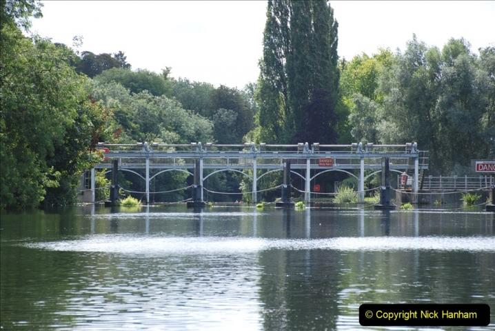 2019-08-20 Cliveden (NT) Taplow, Maidenhead, Berkshire. (113) River Thames boat trip. Marlow Lock. 113