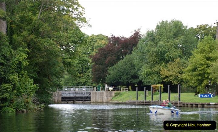 2019-08-20 Cliveden (NT) Taplow, Maidenhead, Berkshire. (83) River Thames boat trip. Cookham Lock. 083