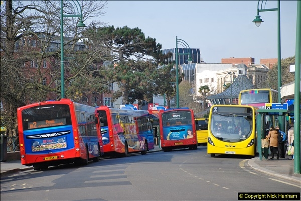 2018-02-23 Bournemouth Square and NEW W&D buses.  (41)041
