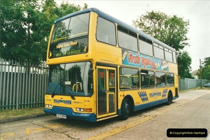 2002-06-30. 100 Years of Yellow Buses Open Day, Mallard Road Depot. Bournemouth, Dorset.    (1)016