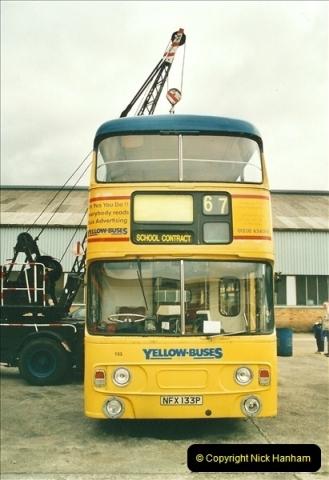 2002-06-30. 100 Years of Yellow Buses Open Day, Mallard Road Depot. Bournemouth, Dorset.    (11)026