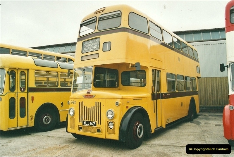 2002-06-30. 100 Years of Yellow Buses Open Day, Mallard Road Depot. Bournemouth, Dorset.    (15)030