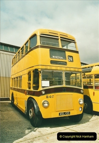 2002-06-30. 100 Years of Yellow Buses Open Day, Mallard Road Depot. Bournemouth, Dorset.    (20)035