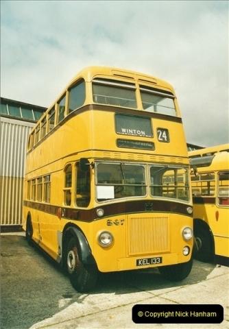 2002-06-30. 100 Years of Yellow Buses Open Day, Mallard Road Depot. Bournemouth, Dorset.    (20)035