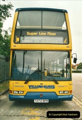 2002-06-30. 100 Years of Yellow Buses Open Day, Mallard Road Depot. Bournemouth, Dorset.    (2)017
