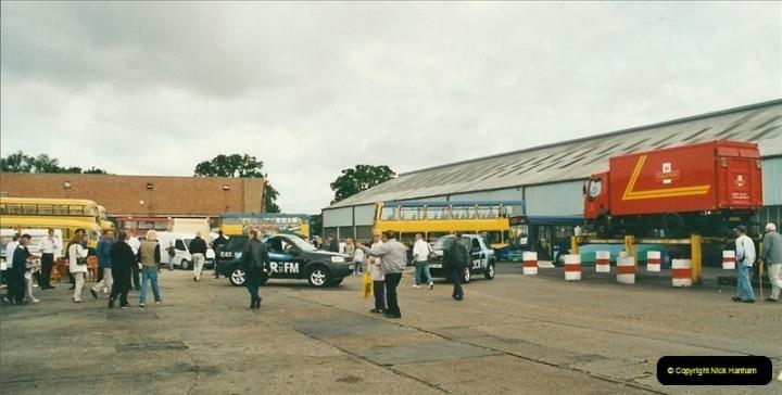 2002-06-30. 100 Years of Yellow Buses Open Day, Mallard Road Depot. Bournemouth, Dorset.    (23)038