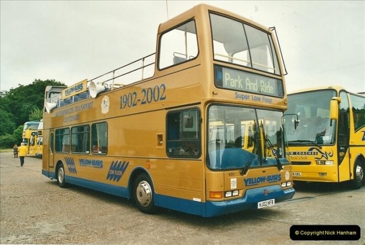 2002-06-30. 100 Years of Yellow Buses Open Day, Mallard Road Depot. Bournemouth, Dorset.    (25)040